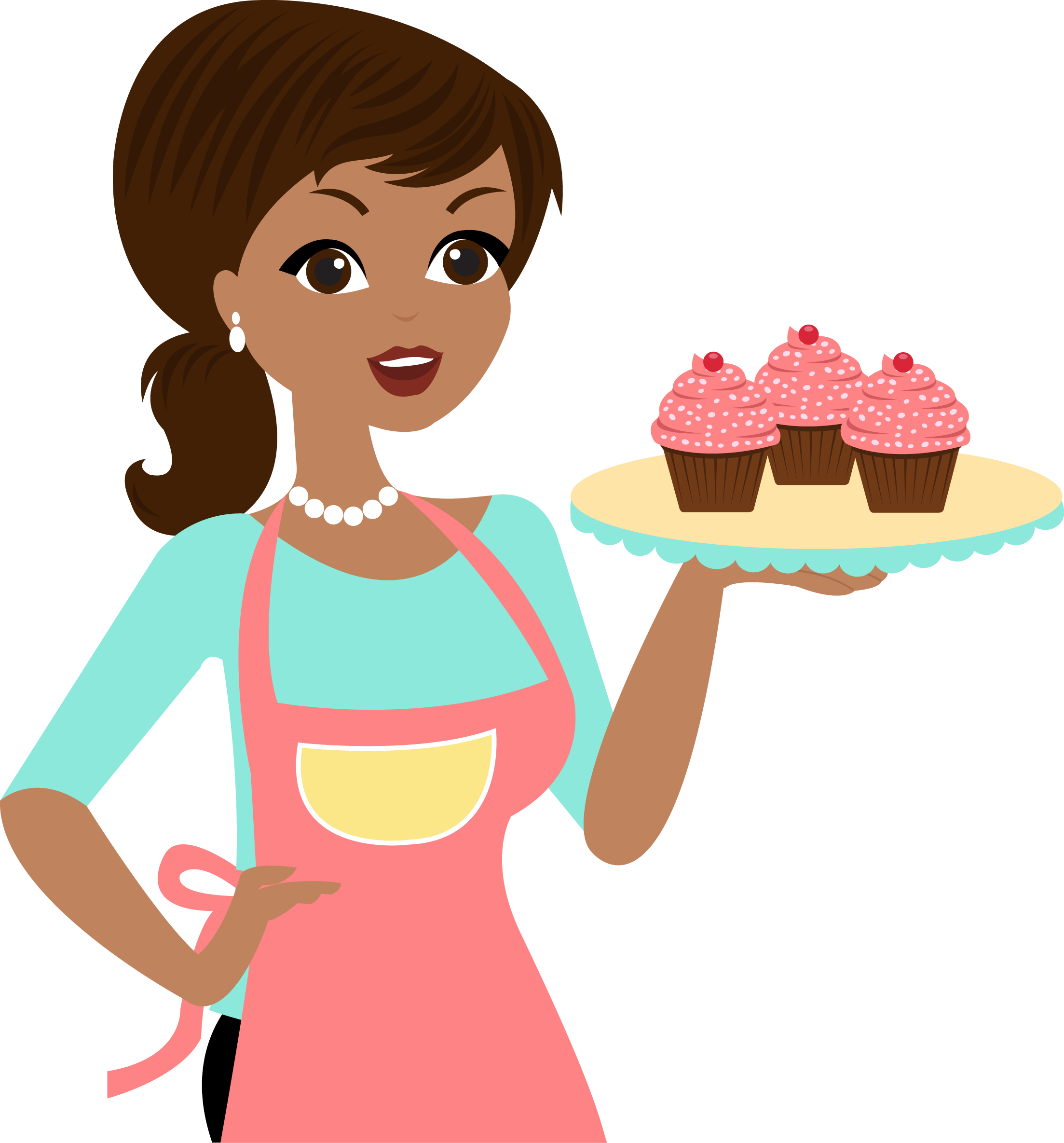 Png ponque pinterest apron. Muffins clipart mom cooking