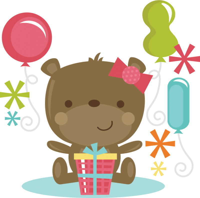 Clipart cake bear. Birthday happy to you
