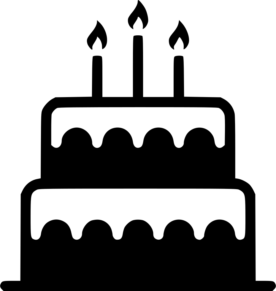 Birthday candle clip art. Desserts clipart black and white