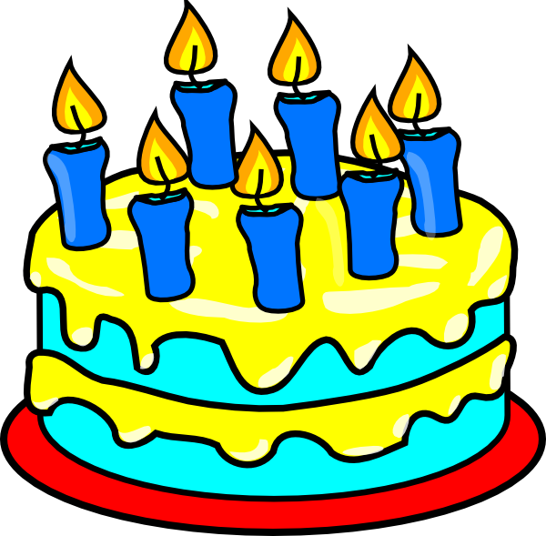 Clipart cake blue. Candles clip art at