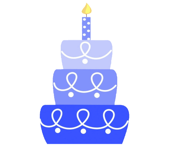 Birthday invitations any color. Clipart cake blue