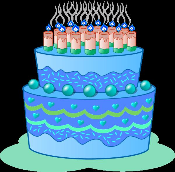 clipart cake blue