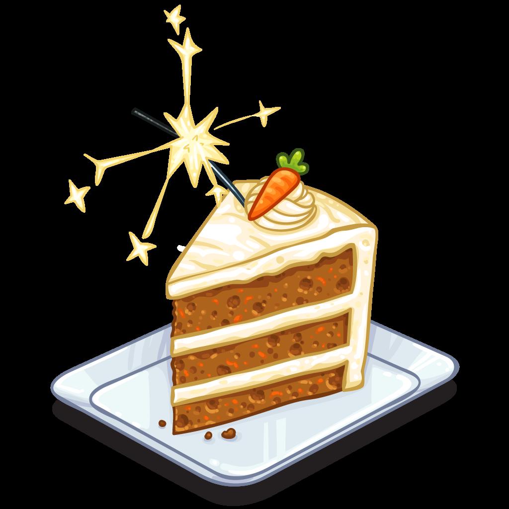 Item detail of carrot. Clipart cake cake slice