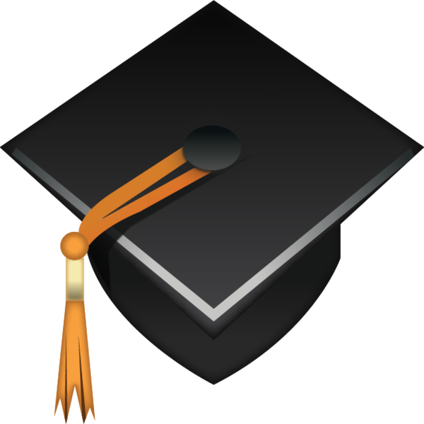 Crowd clipart graduation. Hat silhouette at getdrawings