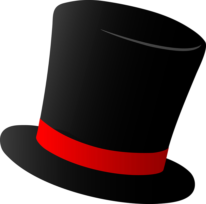 Magic academy top hat. Clipart summer cap