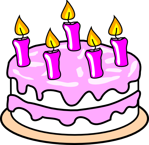 Cartoon birthday black and. Clipart cake december