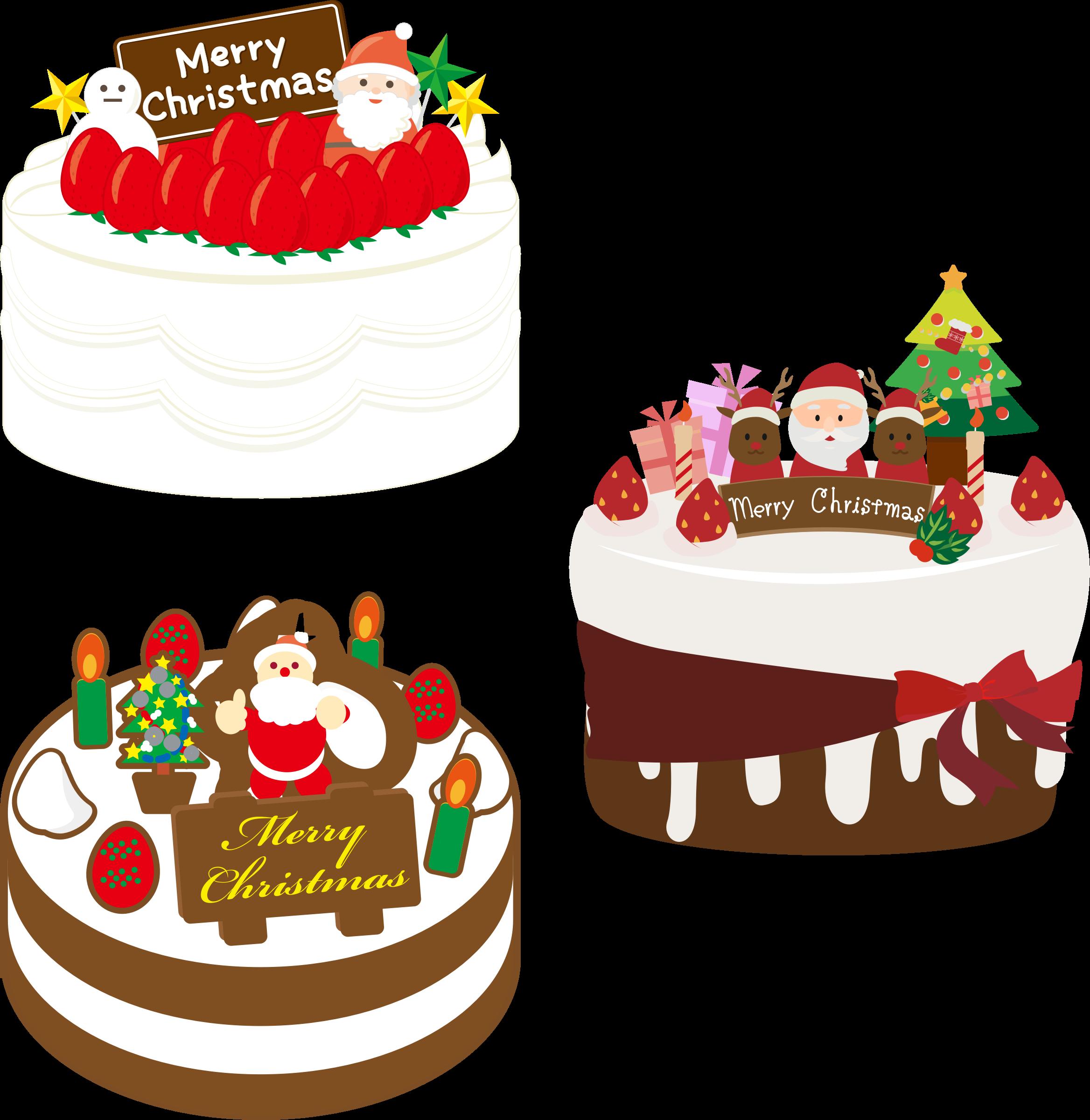 Dessert clipart cake. Japanese christmas big image