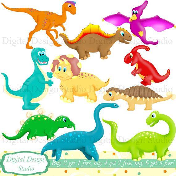 Clipart dinosaur number. Cute dinosaurs clip art
