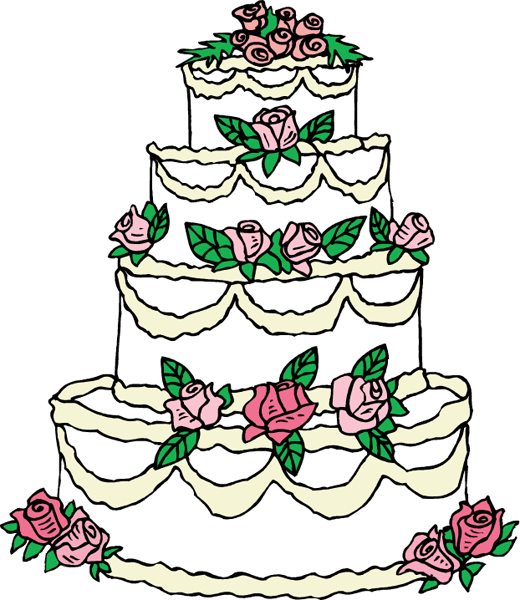 Clipart cake drawing. Wedding drawings
