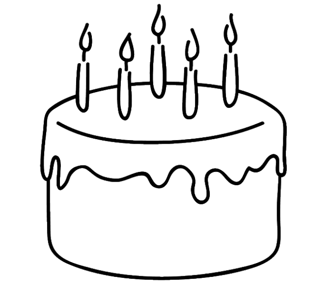 collection of simple. Clipart cake drawing