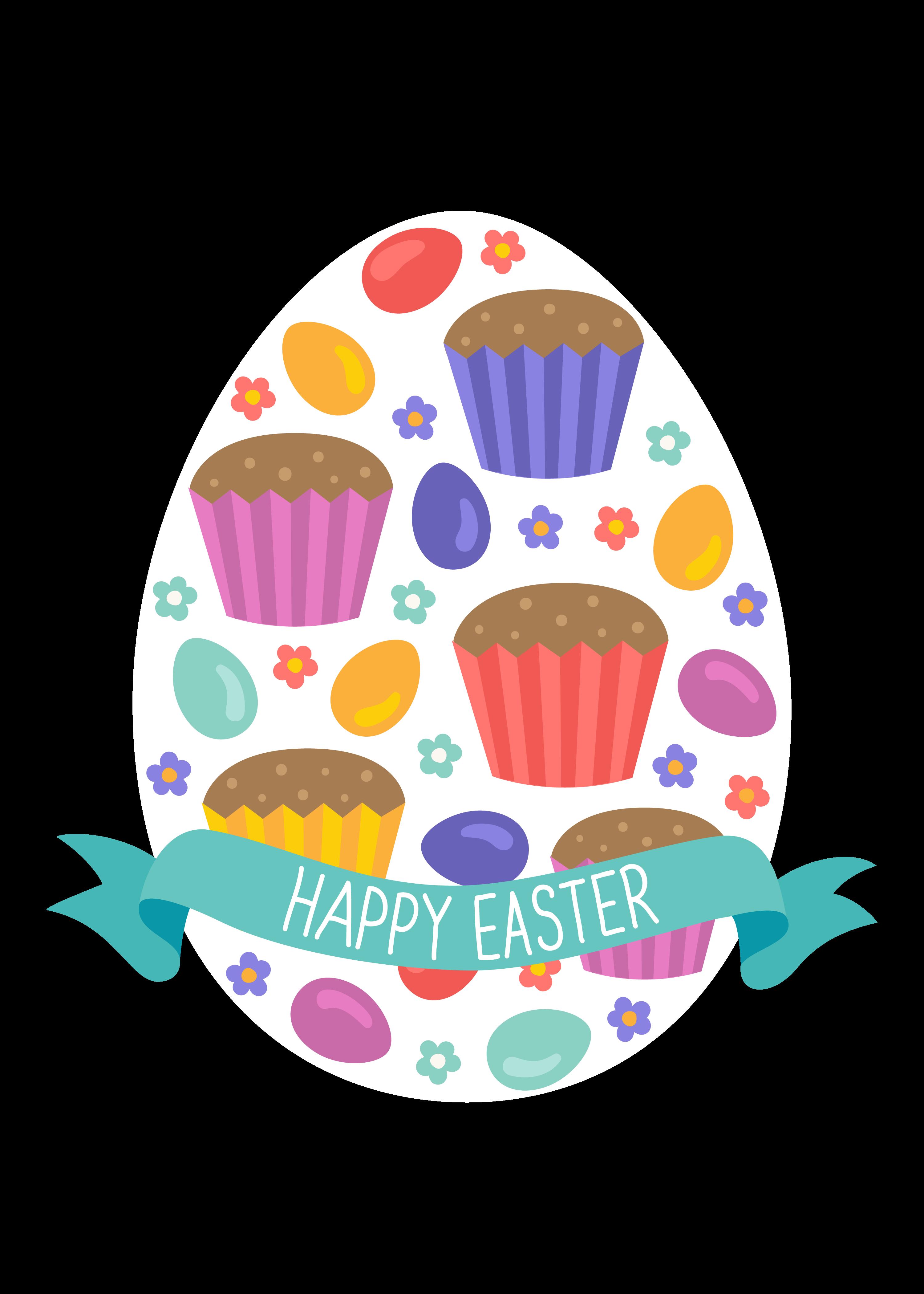 Easter egg cake clip. Holiday clipart bake sale