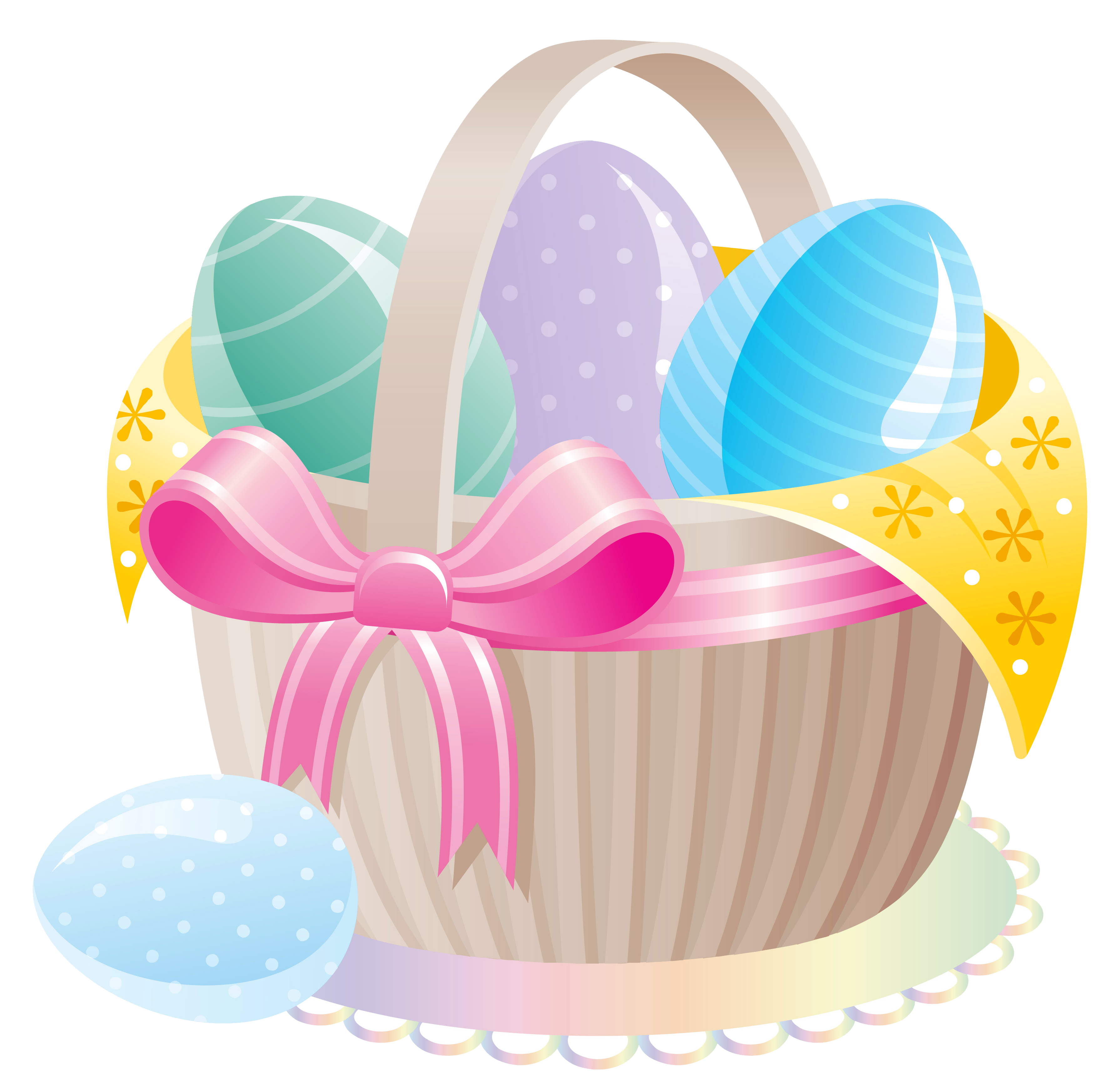 Water clipart basket. Delicate with easter eggs