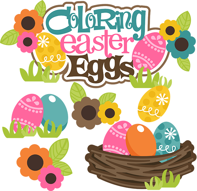 Coloring eggs svg files. Clipart easter baking