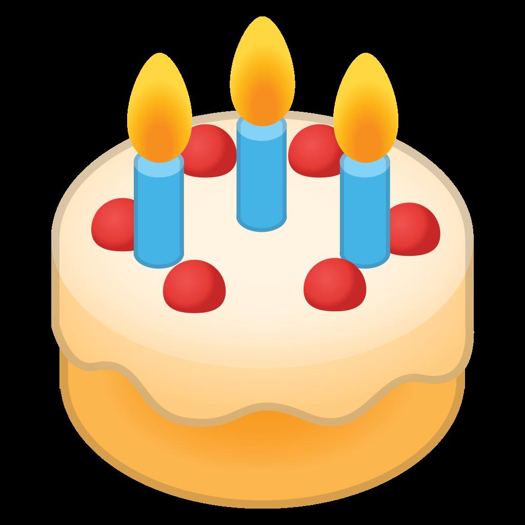 Emoji clipart birthday cake. Icon noto food drink