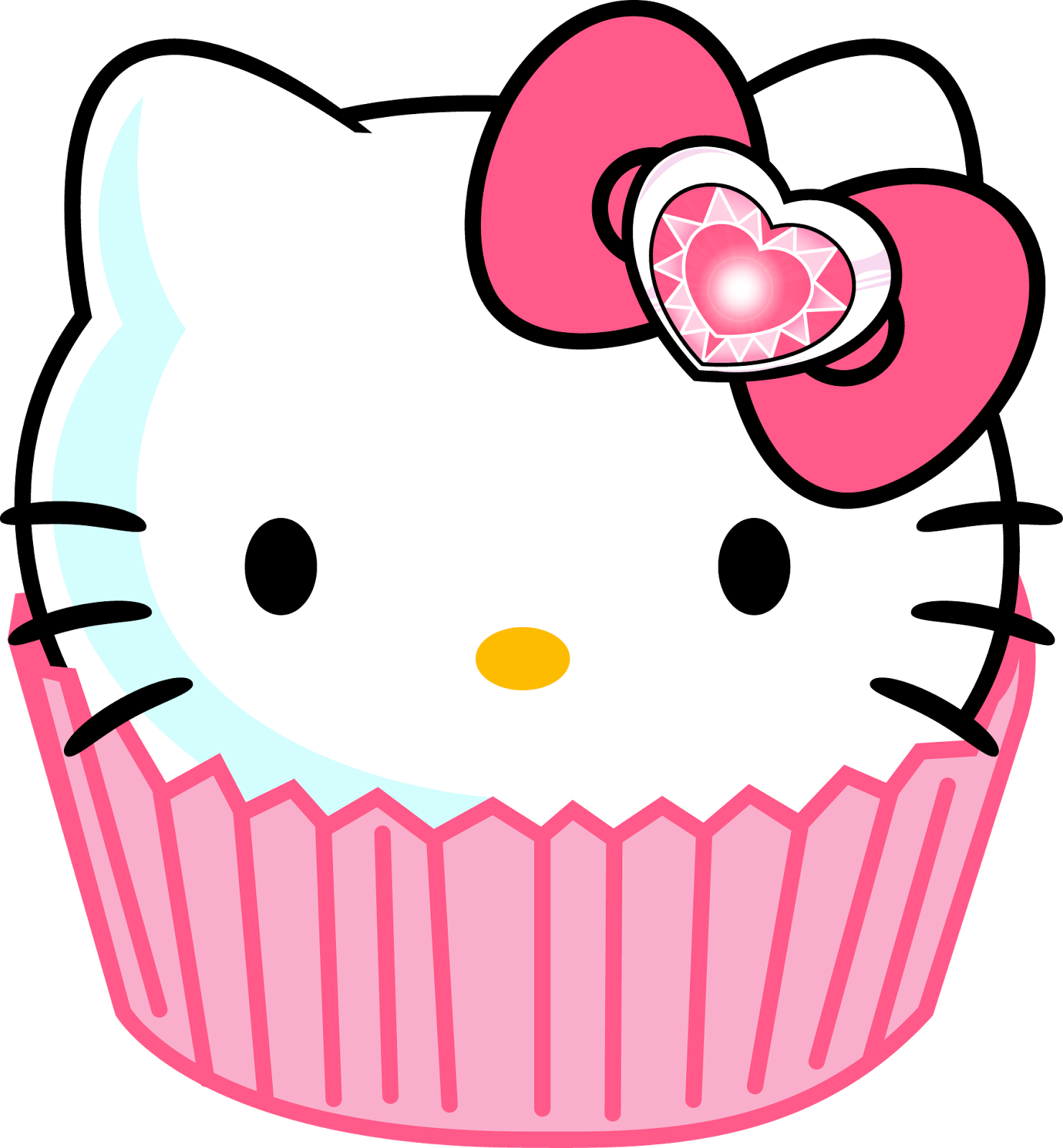 Hello kitty things to. Clipart cake face