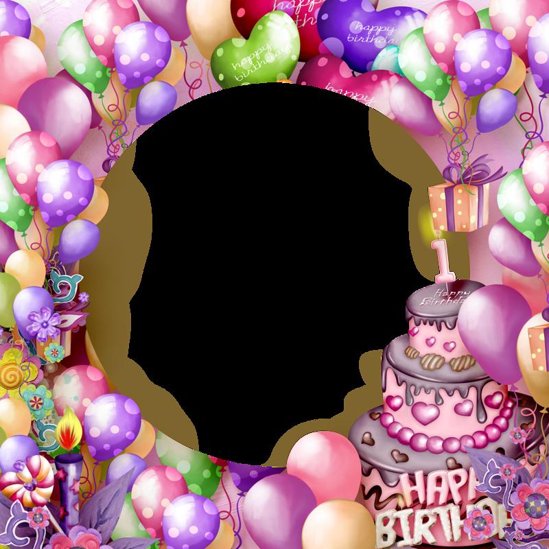 Happy birthday transparent frame. Frames clipart cake