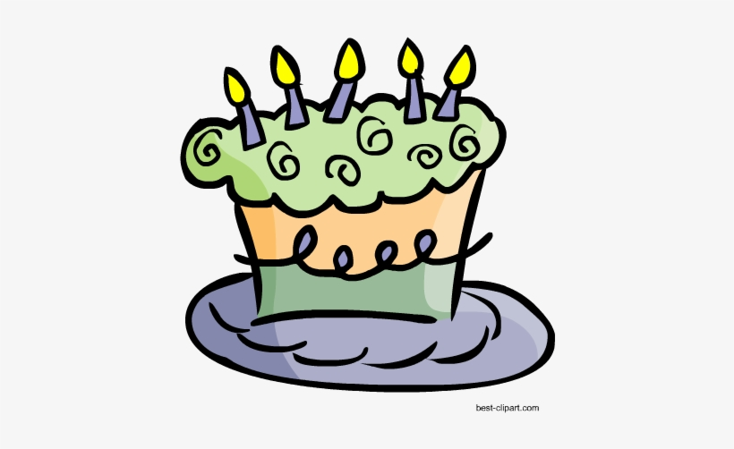 Clipart cake funky. Birthday with candles free
