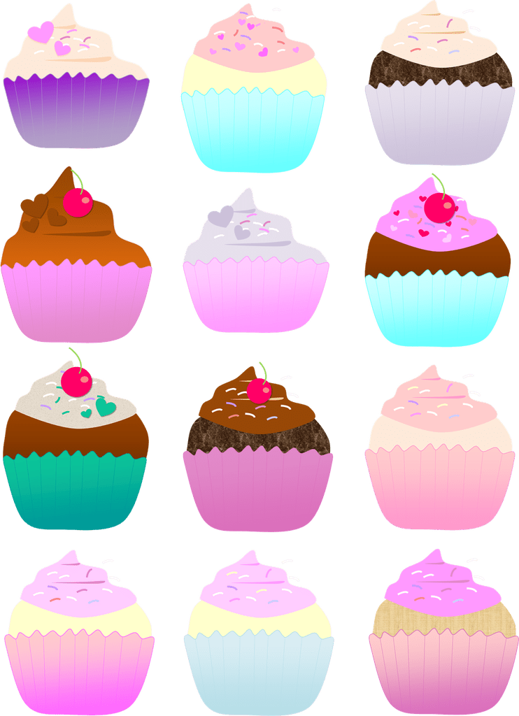 July clipart gold cupcake. Images