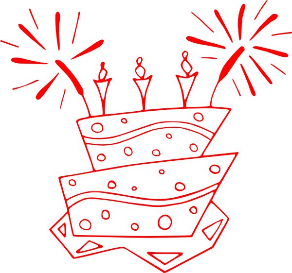 Clipart cake funky. Bday clip art at