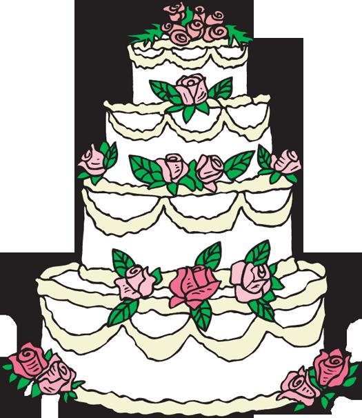 Modern wedding clip art. Clipart cake funky