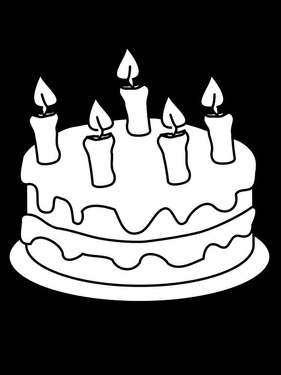 File draw this birthday. Clipart cake gambar