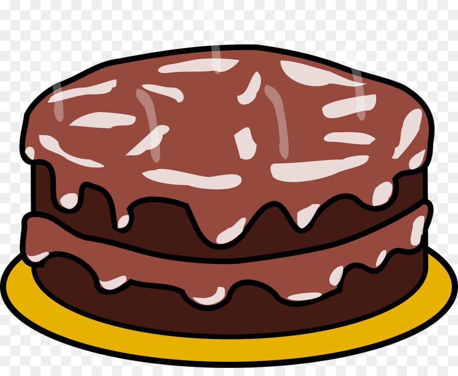 Birthday hat cartoon cake. Desserts clipart chocolate tart