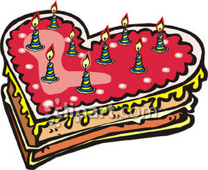 Clipart cake heart. A shaped royalty free