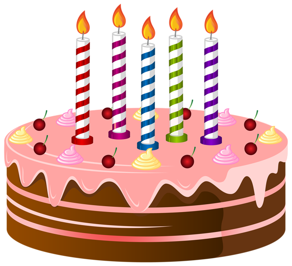 Birthday png clip art. Heart clipart cake