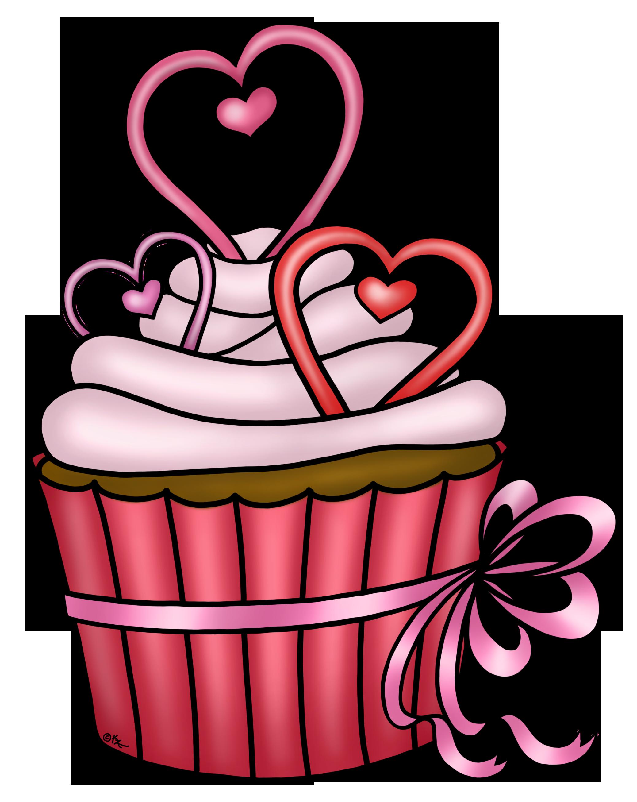 Cupcake png y yecek. Clipart heart cake