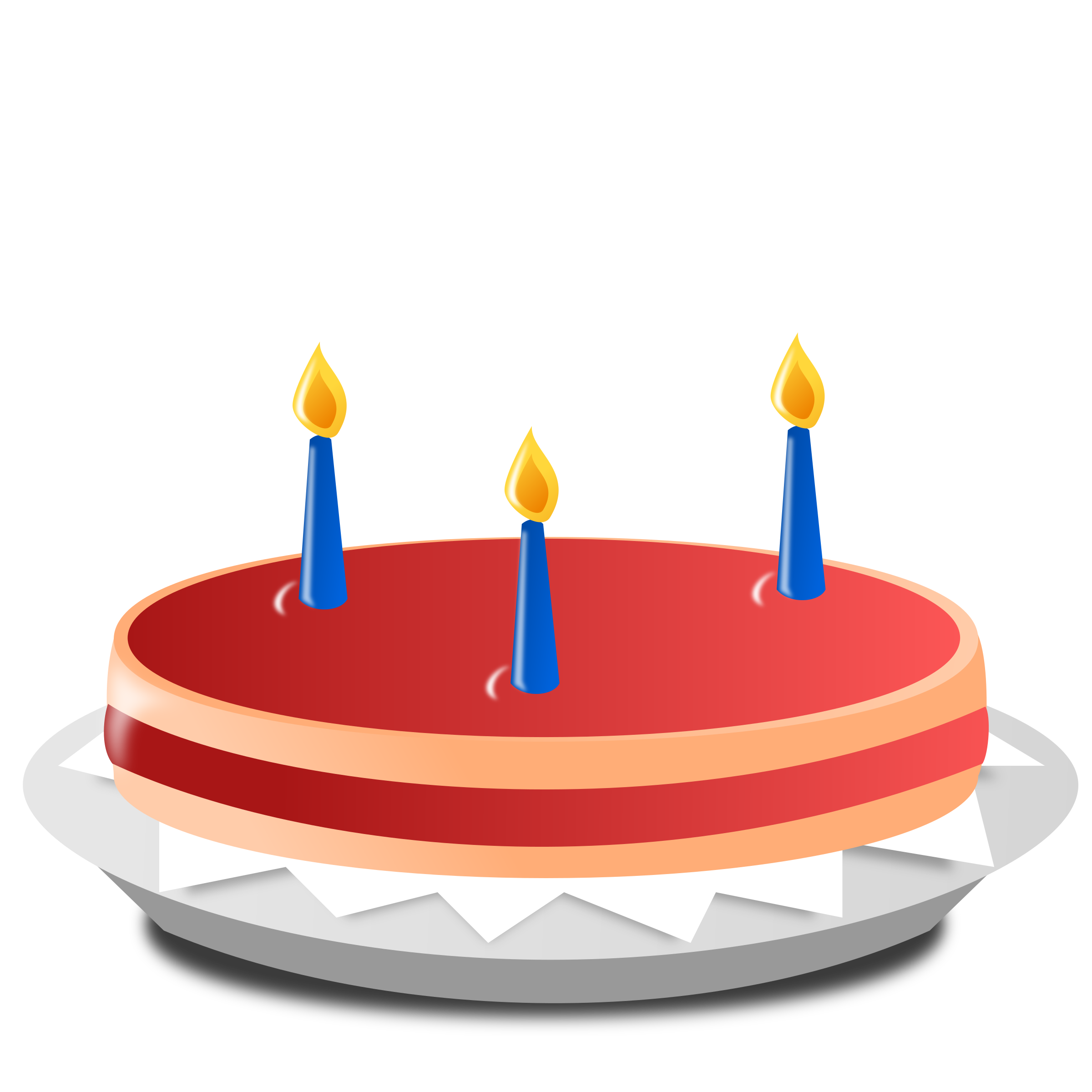 Red clipart cake.  candle icons png