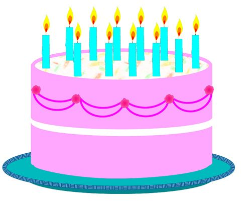 Clipart cake january. Birthday clip art collection