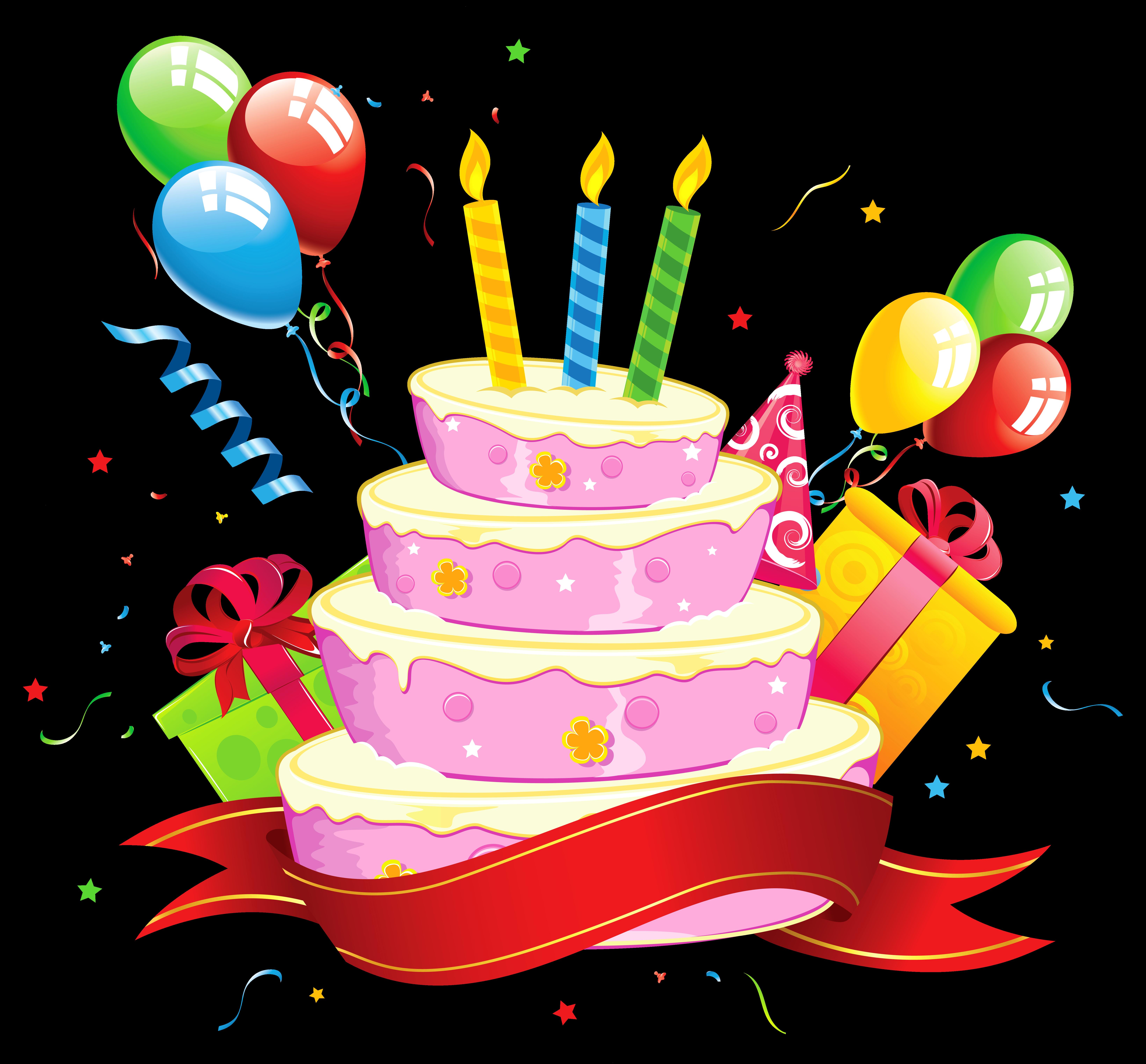 Cake party clip art. Donut clipart birthday