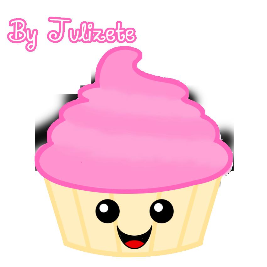 Clipart cake kawaii. Cupcake by julizete on