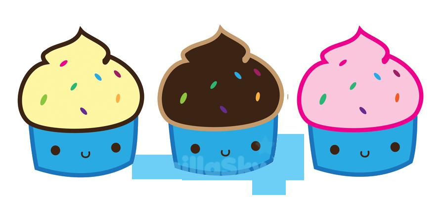 Clipart cake kawaii. Cupcakes n by vanilla
