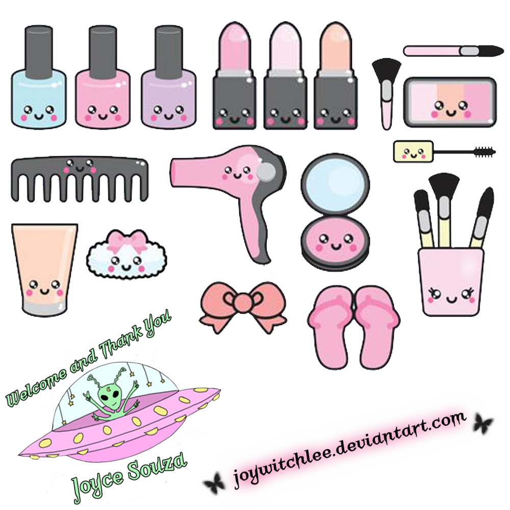 Make clipart png. Kawaii up pack by