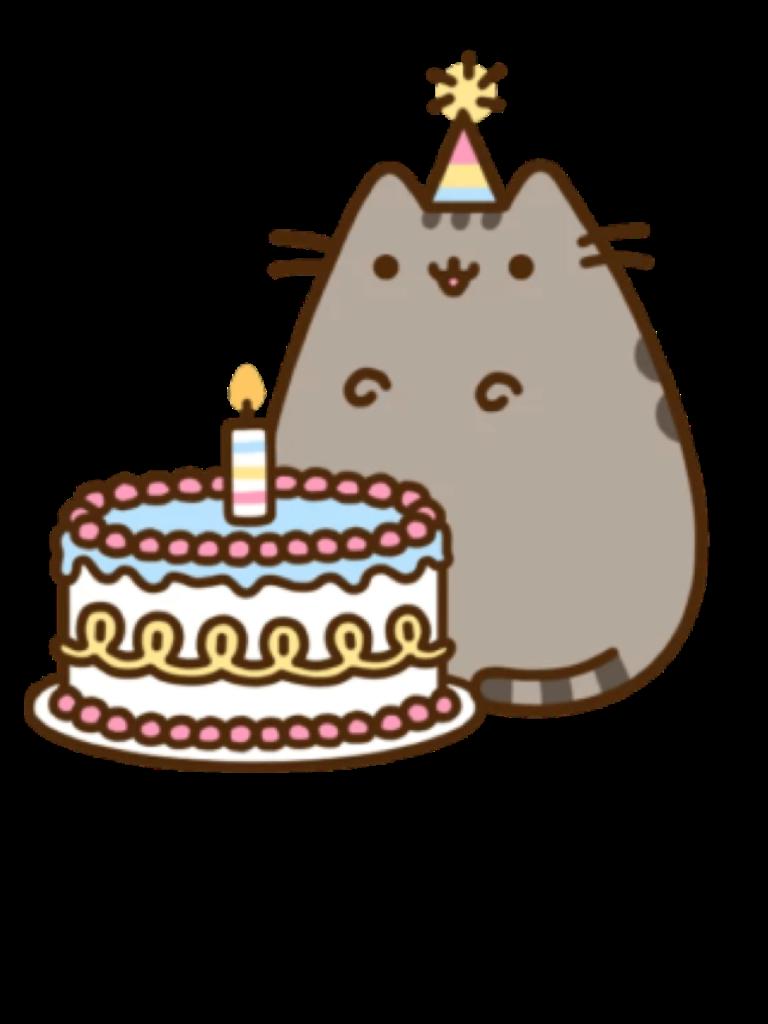 Happybirthdaytoyou happybirthday pusheen cute. Clipart cake kawaii