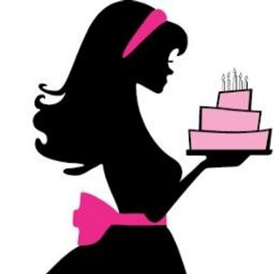 Clipart cake lady. Silhouette