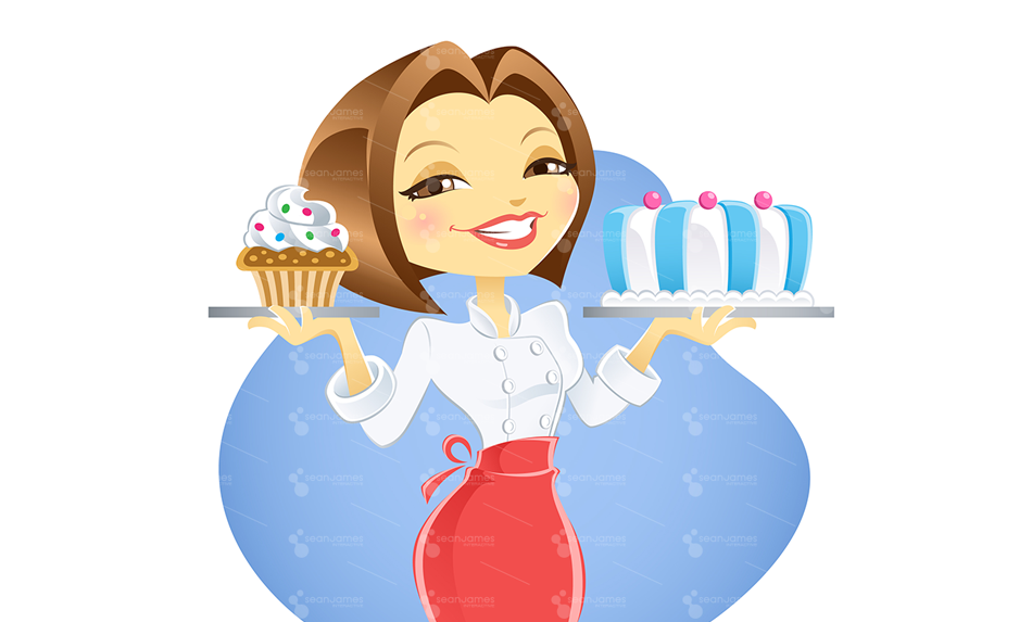 . Clipart cake lady