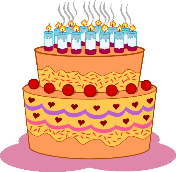Layered birthday clip art. Clipart stars cake
