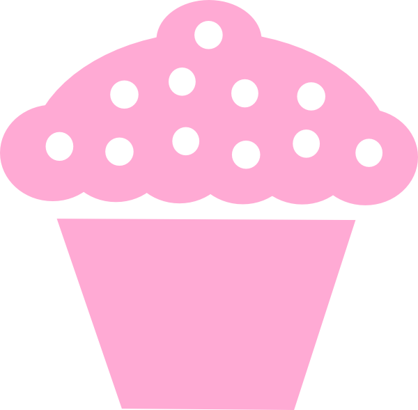 Clipart cupcake outline. Pink cup cake pencil