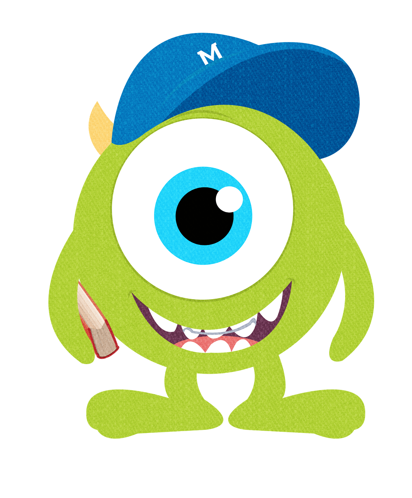 monster clipart two eyed