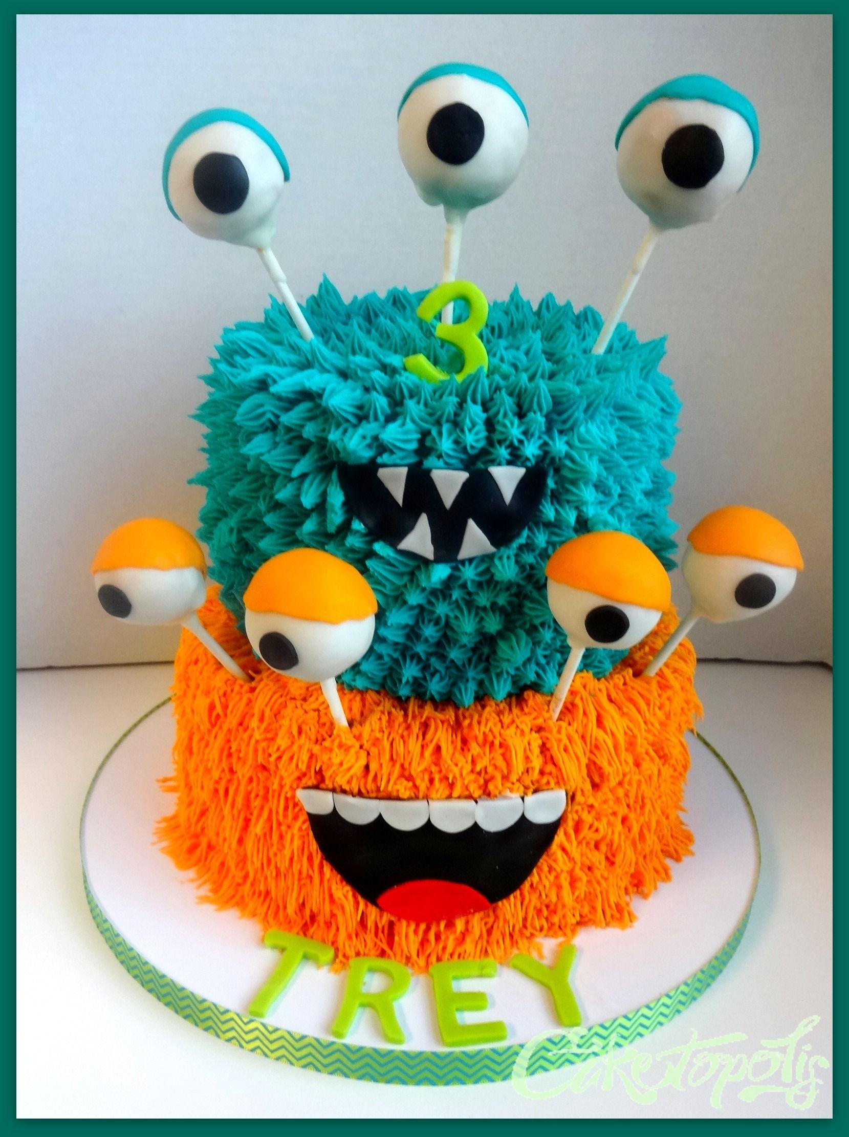 Clipart cake monster. Birthday halloween bake
