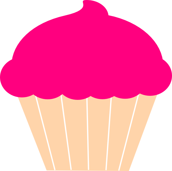 Girly clipart cupcake. Clip art at clker