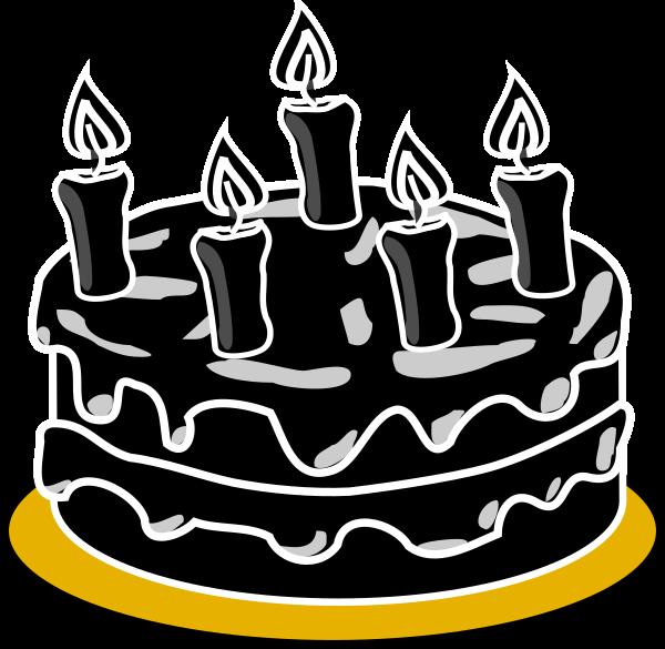Black clip art at. Dessert clipart cake