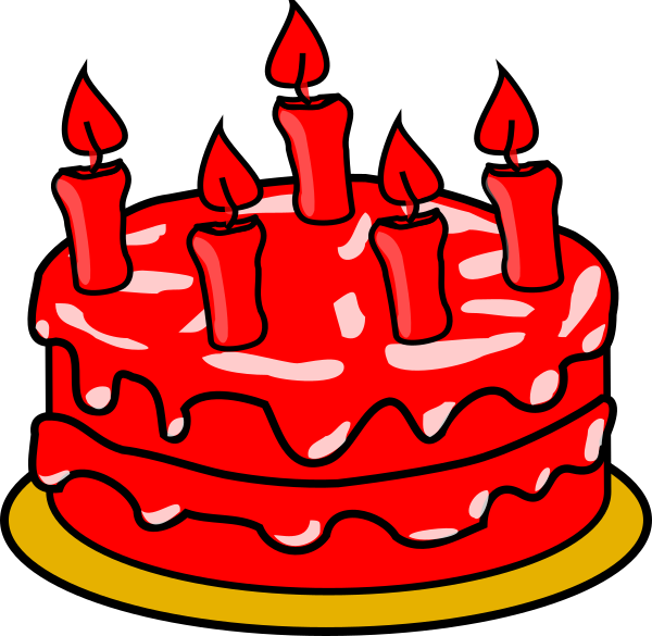 Red clipart cake. Clip art at clker
