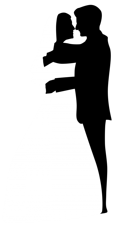 Clipart wedding archway. Couple silhouettes clip art