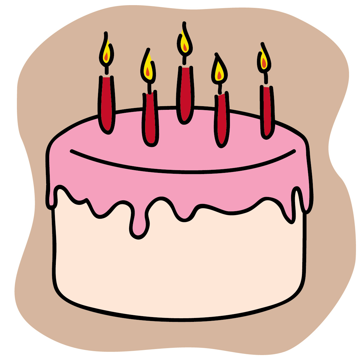 Free images of a. Clipart cake simple
