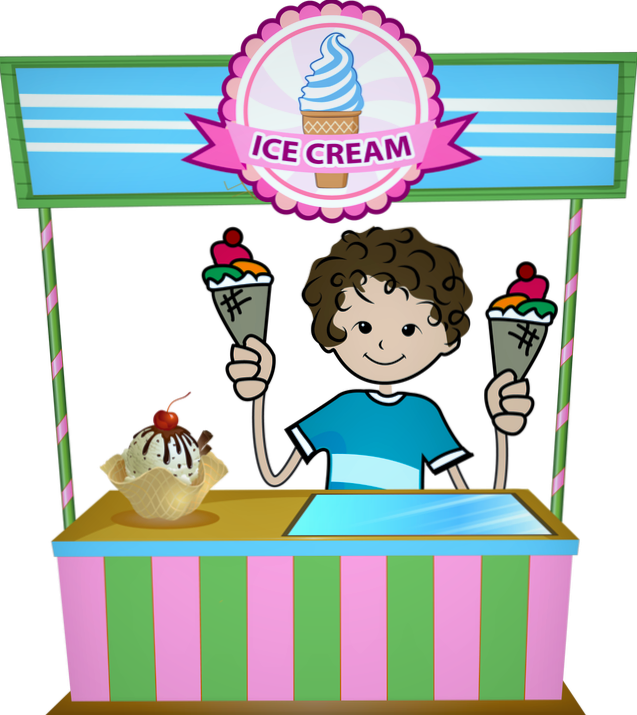 Icecream clipart party. Ice cream stand indian