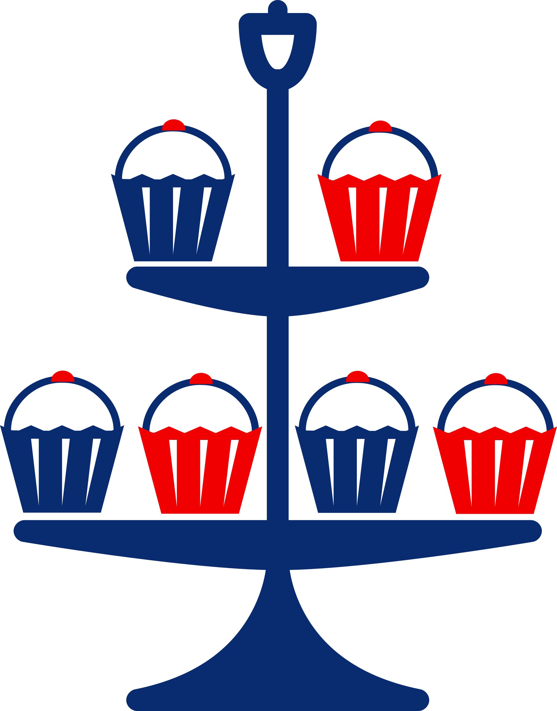 Jubilee blue big image. Clipart cake stand