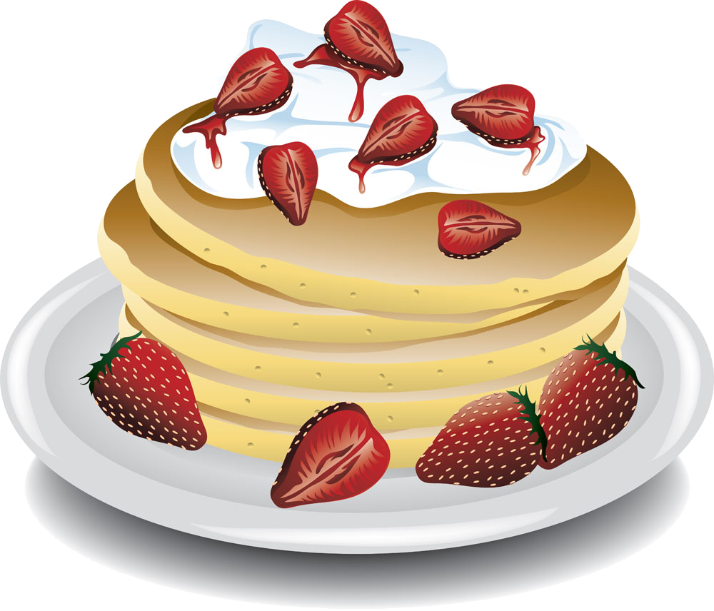 Clipart coffee pancake. Waffle clip art strawberry